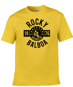 Rocky Balboa Boxing Club T-Shirt Yellow