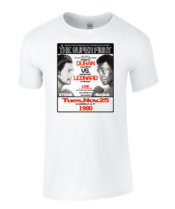 Roberto Duran Vs Sugar Ray Leonard Boxing T-Shirt White