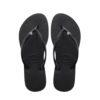 Havaianas Womens Slim Crystal Glamour Black Flip Flops