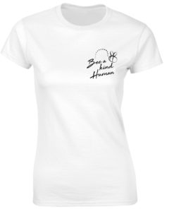 BEE A KIND HUMAN WHITE T-SHIRT