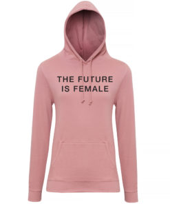 THE FUTURE IS FEMALE HOODY - DUSTY PINK