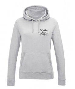 I'D RATHER BE IN NEWQUAY HOODY - GREY