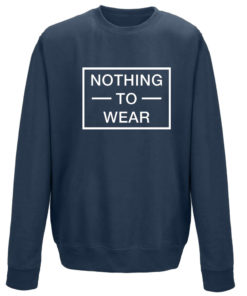NOTHING TO WEAR NAVY CREW