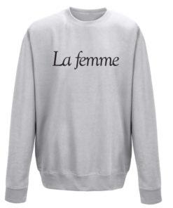 LA FEMME GREY CREW