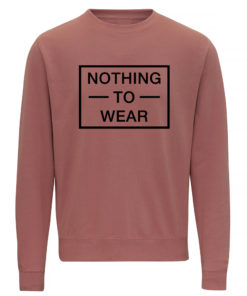 NOTHING TO WEAR DUSTY PINK CREW