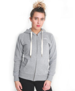 I.C.Clothing Scroll Zip up Hoody - Light Grey