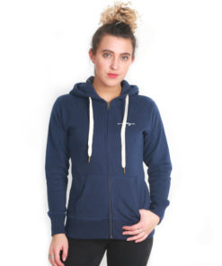 I.C.Clothing Scroll Zip up Hoody - Navy