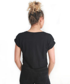 I.C.Clothing Crop T. Shirt - Black