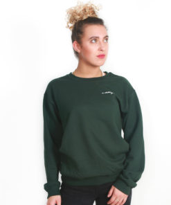 Ladies IC Clothing Scroll Crew Sweater GD056 Forest Green