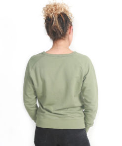 ic clothing scoop neck crew- olive