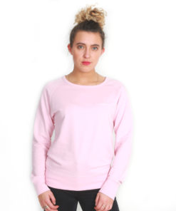 I.C.Clothing Scroll Scoop neck crew- Soft Pink