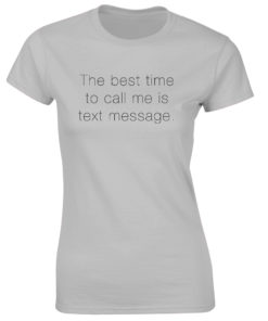 TEXT MESSAGE GREY T-SHIRT