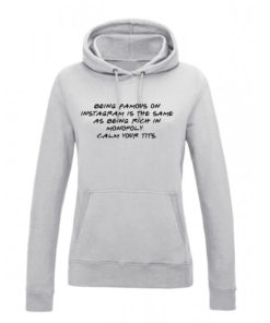 INSTAGRAM HOODY - GREY