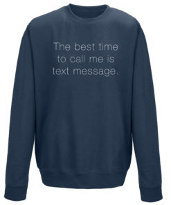 TEXT MESSAGE LADIES CREW - NAVY