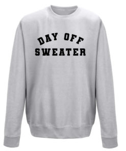 DAY OFF SWEATER LADIES CREW - GREY