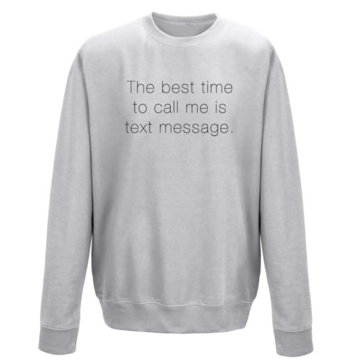 TEXT MESSAGE LADIES CREW - GREY