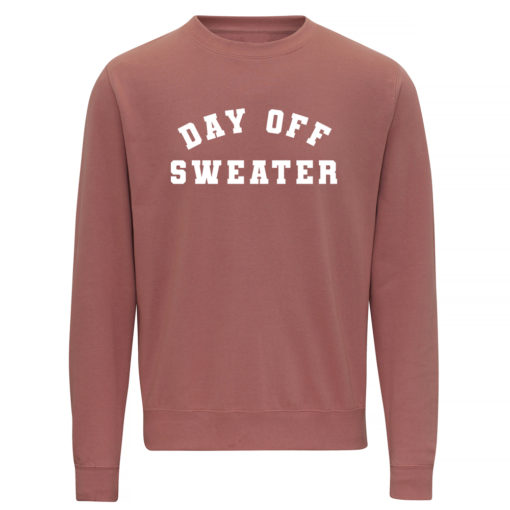 DAY OFF SWEATER LADIES CREW - DUSTY PINK