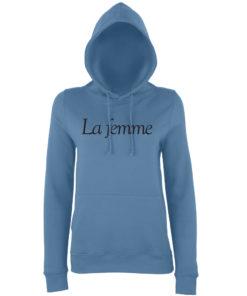 LA FEMME HOODY - AIRFORCE BLUE