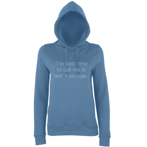 TEXT MESSAGE HOODY - AIRFORCE BLUE