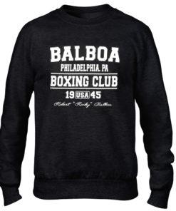 Balboa Boxing Club Mens Black Crew