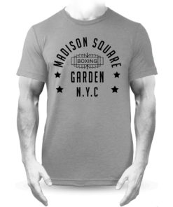 Madison Square Garden NYC Grey Boxing Training Premium T-shirt