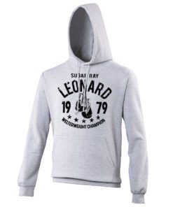 Sugar Ray Leonard Grey Training Boxing Premium Hoody