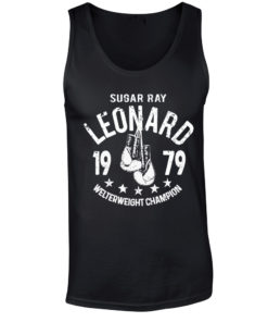 Sugar Ray Leonard Black Training Boxing Premium Vest Tank Top