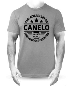 Saul Alvarez Canelo Mexico Grey Boxing Training Premium T-shirt