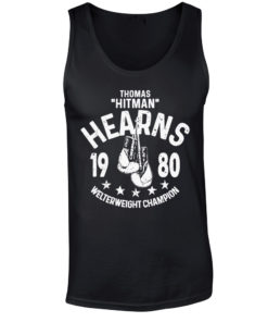 Thomas Hitman Hearns Black Training Boxing Premium Vest Tank Top