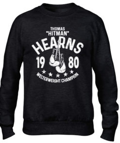 Thomas Hitman Hearns Black Training Boxing Premium Crew Sweater