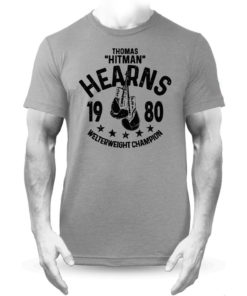 Thomas Hitman Hearns Grey Boxing Training Premium T-shirt