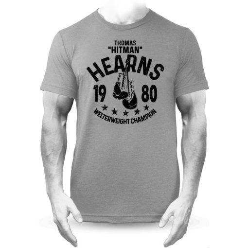 Thomas Hitman Hearns Grey Boxing Training Premium T-shirt