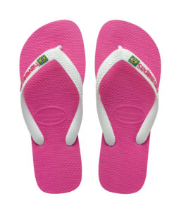 Havaianas Womens Brasil Logo Hollywood Rose Flip Flops