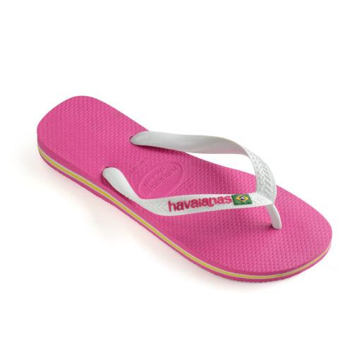 Havaianas Womens Brasil Logo Hollywood Rose Flip Flops
