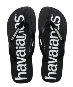 Havaianas Mens Top Logomania Black Flip Flops