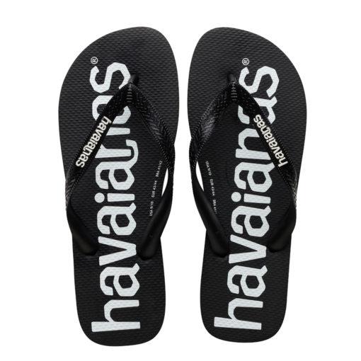 Havaianas Mens Top Logomania Black Flip Flops