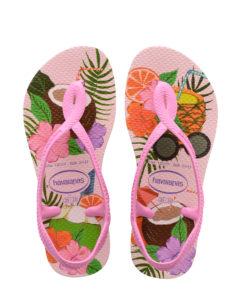Havaianas Kids Luna Print Crystal Rose Flip Flops
