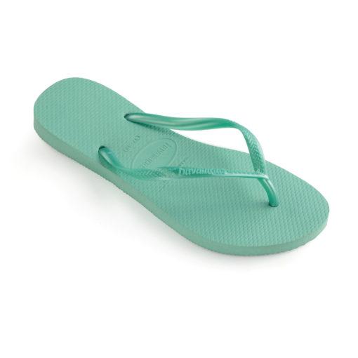 Havaianas Womens slim green dew flip flops