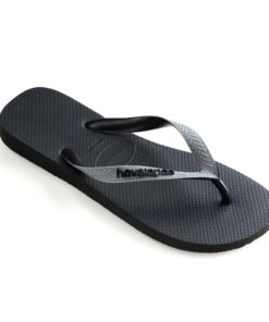 Havaianas Mens Top Mix Black/Steel Grey Flip Flops