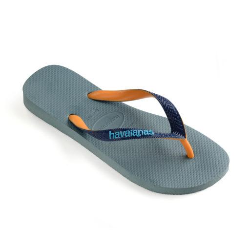 Havaianas Mens Top Mix Silver Blue Flip Flops