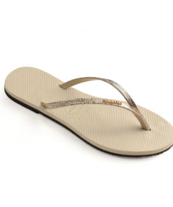 Havaianas Womens You Shine Beige Flip Flops