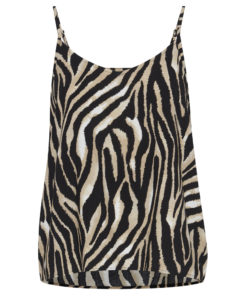 B-Young Isole Zebra Print Strappy Vest Top