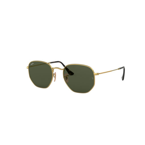 Ray-Ban Hexagonal Flat Lenses Gold Sunglasses