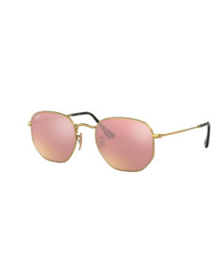 Ray-Ban Hexagonal Gold Copper Flash Sunglasses