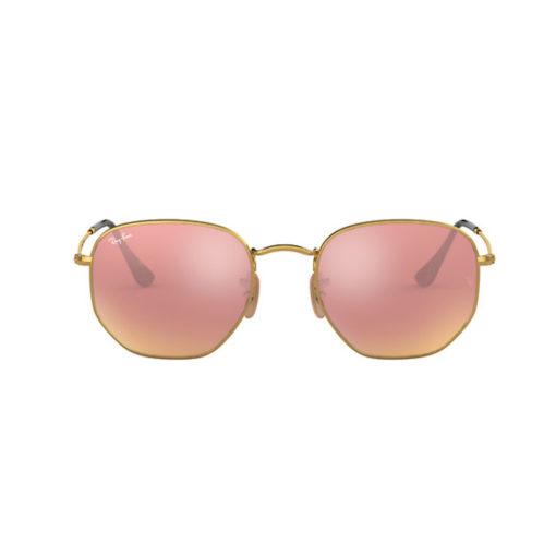 Ray-Ban Hexagonal Gold Copper Flash Sunglasses
