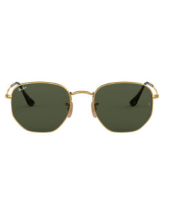 Ray-Ban Hexagonal Flat Lenses Gold Sunglasses