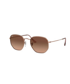 Ray-Ban Hexagonal Flat Lenses Copper Sunglasses