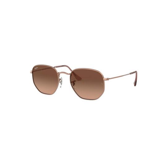 Ray-Ban Hexagonal Flat Lenses Copper Sunglasses