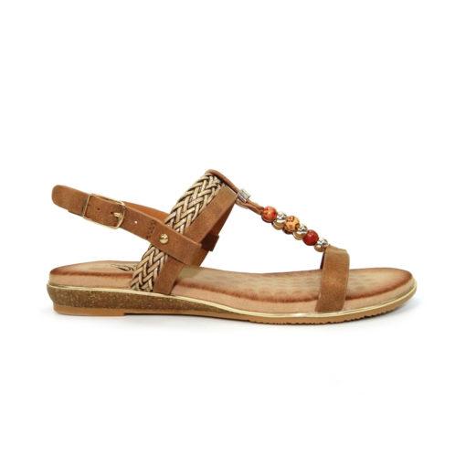 Lunar Alana Beaded Tan Sandal