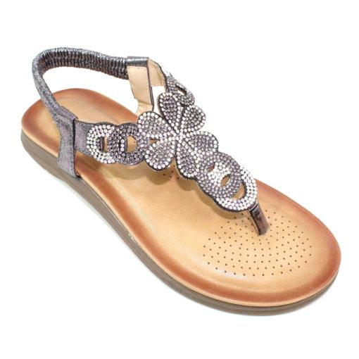 Lunar Edwina Gemstone Sandal - Pewter